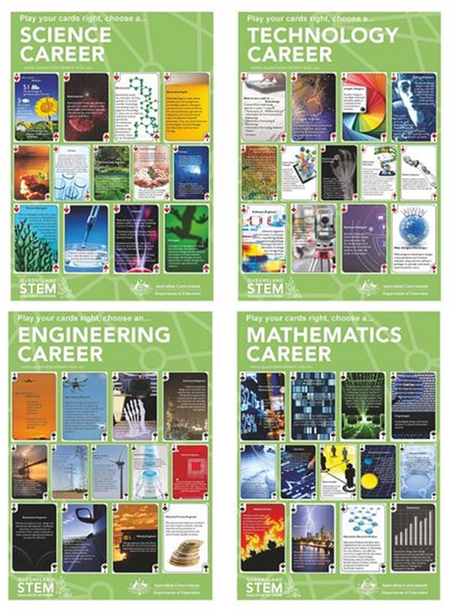 """""""Play Your Cards Right"""" STEM Career Posters"""